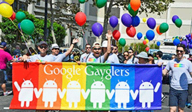 Google Gayglers marched in the 2016 Silicon Valley Pride parade; activists in San Francisco want them ousted from the city's event later this month. Photo: Jo-Lynn Otto