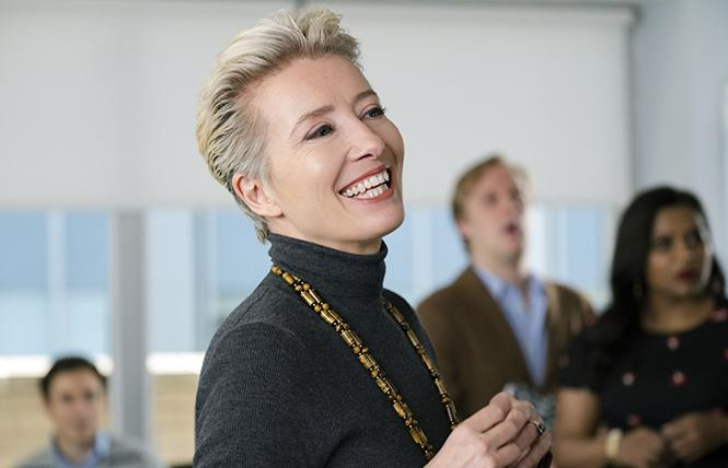 "Emma Thompson is Katherine Newbury in ""Late Night."" Photo: Emily Aragones/Amazon Studios"