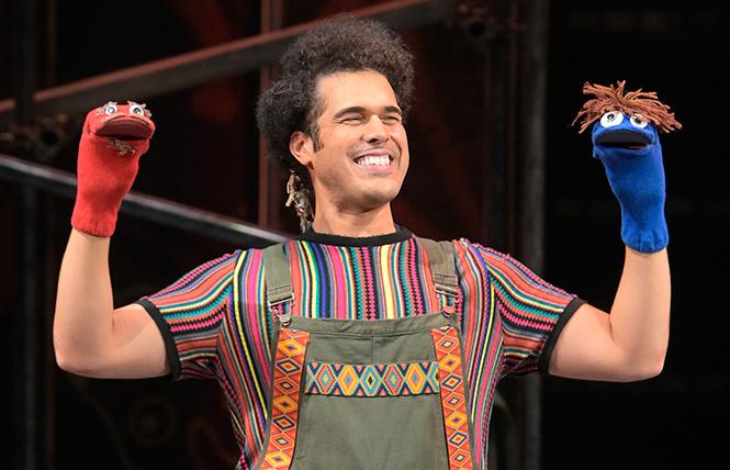 "Joél Pérez (Pepe) in the world premiere of ""Kiss My Aztec!"" at Berkeley Rep, directed by Tony Taccone. Photo: Courtesy of Kevin Berne/Berkeley Repertory Theatre"