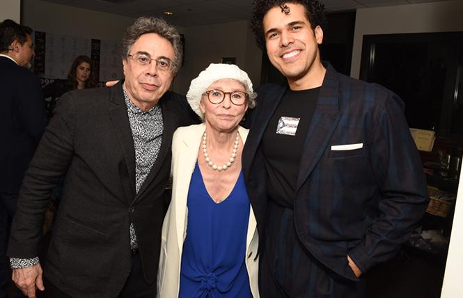 Tony Taccone, Rita Moreno and Joel Perez at 'Kiss My Aztec'