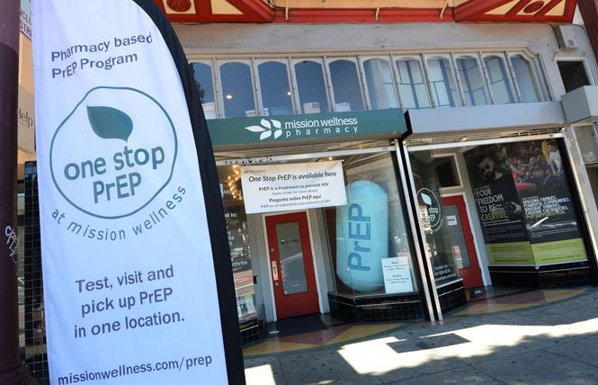 Mission Wellness Pharmacy in San Francisco promoted PrEP last fall. Photo: Rick Gerharter