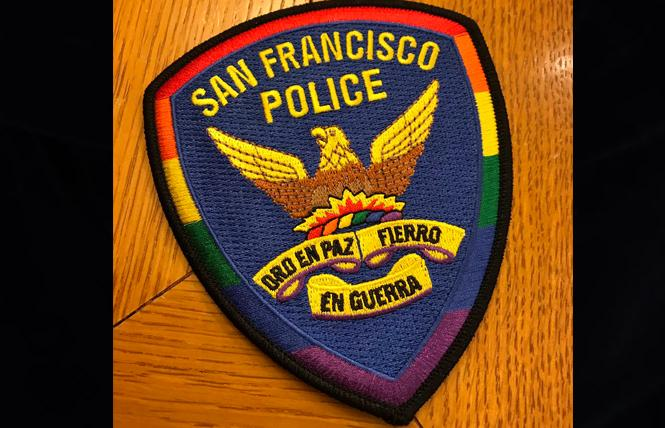 SFPD's Pride patch. Photo: Courtesy Twitter