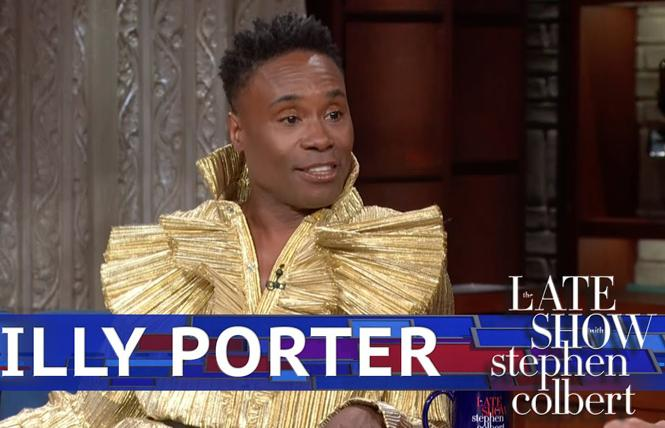 """Billy Porter was a guest on """"The Late Show with Stephen Colbert."""" Photo: CBS-TV"""
