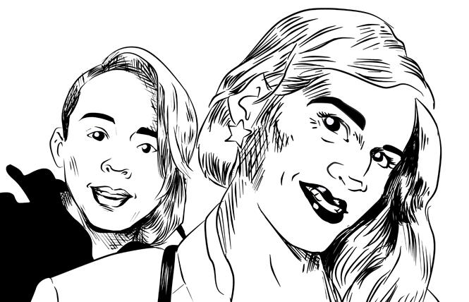 Johana Medina Leon and Roxsana Hernandez Rodriguez. Illustration: Christine Smith