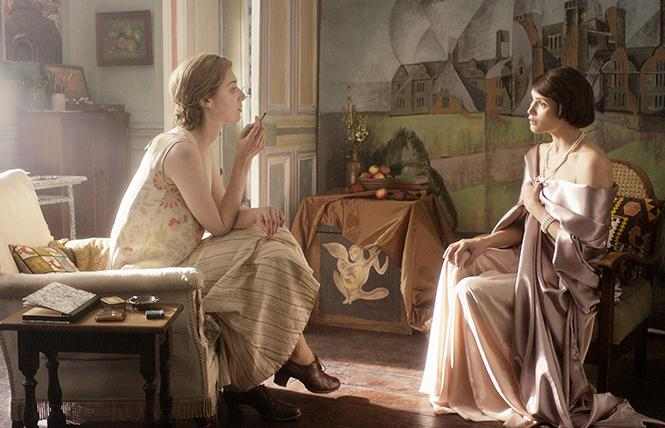 "Virginia Woolf (Elizabeth Debicki) and Vita Sackville-West (Gemma Arterton) head for lesbian romance in Frameline 43's opening film, ""Vita & Virginia."" Photo: Courtesy Frameline"