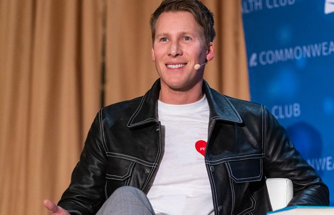 Screenwriter Dustin Lance Black talked about his new memoir during an appearance this spring in San Francisco. Photo: Jane Philomen Cleland