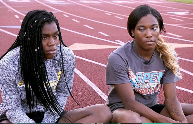Trans high school athletes Andraya Yearwood, left, and Terry Miller were named in a lawsuit filed by Alliance Defending Freedom.