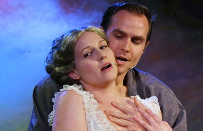 "Juliana Lustenader as Clara, John Melis as Giorgio, in ""Passion"" at Custom Made Theatre. Photo: Jay Yamada"