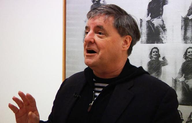 Kevin Killian holds forth on Andy Warhol at SFMOMA. Photo: Courtesy SFMOMA
