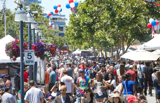 People packed Jack London Square for its July 4 block party. Photo: Courtesy Jack London Square