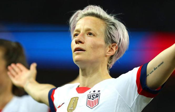 Megan Rapinoe, the co-captain of the USWNT, winner of the FIFA World Cup soccer championship, and MVP of the World Cup. Photo: Web-TV