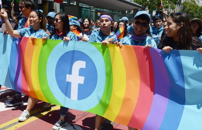 The Facebook contingent marched in last month's San Francisco Pride parade. Photo: Rick Gerharter