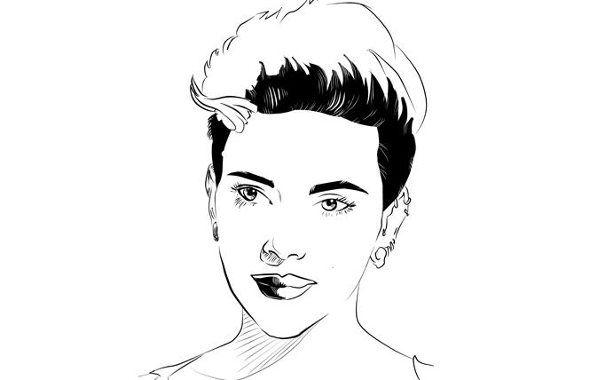 Scarlett Johansson. Illustration: Christine Smith