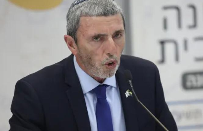 Interim Israeli Education Minister Rafi Peretz spoke at a July 11 news conference in Tel Aviv. Photo: Courtesy Haaretz/Ofer Vaknin