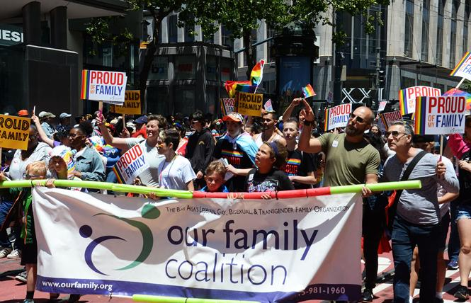 Our Family Coalition marches in last month's San Francisco LGBT Pride parade. Photo: Rick Gerharter