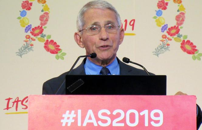 Dr. Anthony Fauci speaks at the IAS HIV conference in Mexico City. Photo: Liz Highleyman