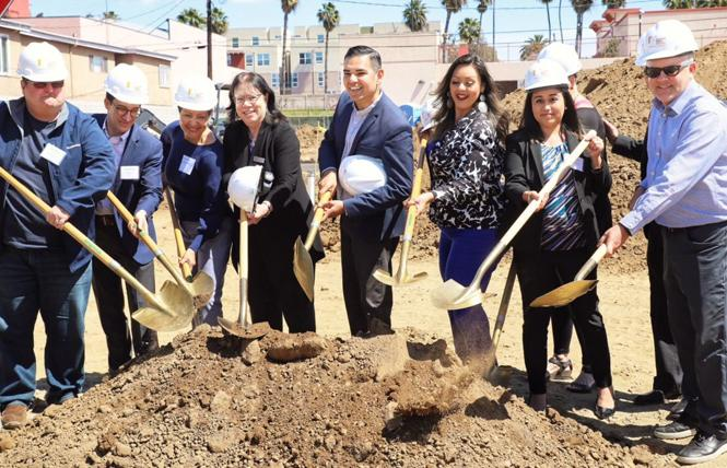 Long Beach Mayor Robert Garcia, center, seen here at a groundbreaking, is focused on his second term rather than running for a state legislative seat next year. Photo: Courtesy Mayor's Office