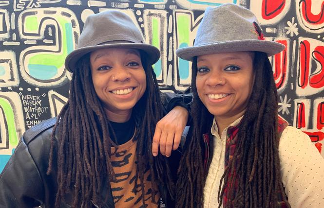 Twin sisters Melonie and Melorra Green are organizing a cannabis conference that starts Thursday. Photo: Sari Staver