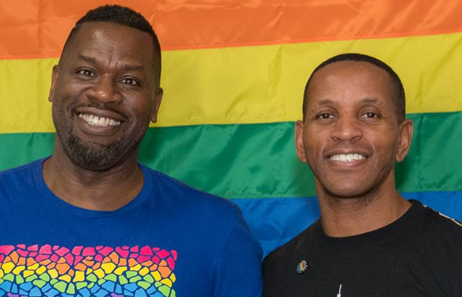 Oakland LGBTQ Community Center co-founders Joe Hawkins, left, who is now CEO, and Jeff Myers, who is now board president. Photo: Jane Philomen Cleland