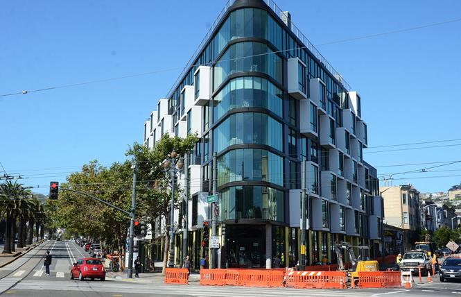Controversy has greeted the new building at 2100 Market Street, where the apartments will be leased by a hospitality startup as furnished apartments. Photo: Rick Gerharteri