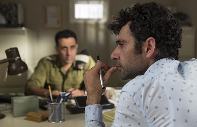 "Assi (Yaniv Biton) and Salam (Kais Nashif) in director Sameh Zoabi's ""Tel Aviv on Fire."" Photo: Cohen Media Group"