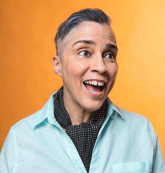 "Comedian and ""Who's Your Mami?"" curator Marga Gomez. Photo: Brenna Merrit"