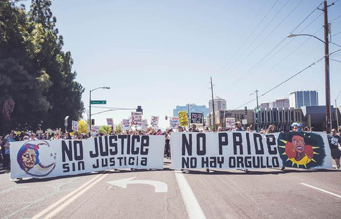 Trans Queer Pueblo advocates for trans migrants who are in federal custody. Photo: Courtesy Facebook