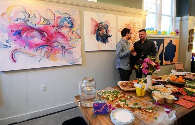 Paintings by Ariel Gold were featured at Spark Arts Gallery during the monthly Castro Art Walk August 1. Photo: Rick Gerharter