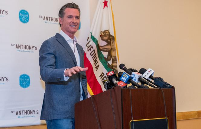 Governor Gavin Newsom. Photo: Jane Philomen Cleland