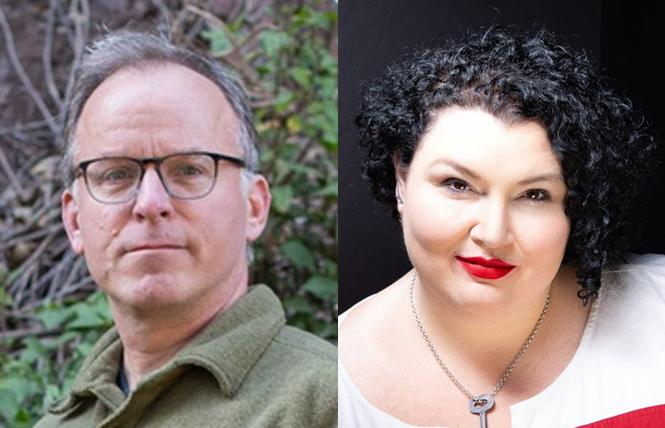 "LEFT: ""Now I'm Here"" author Jim Provenzano. Photo: PhotosByDot   RIGHT: ""The Book of Flora"" author Meg Elison. Photo: Courtesy the author"