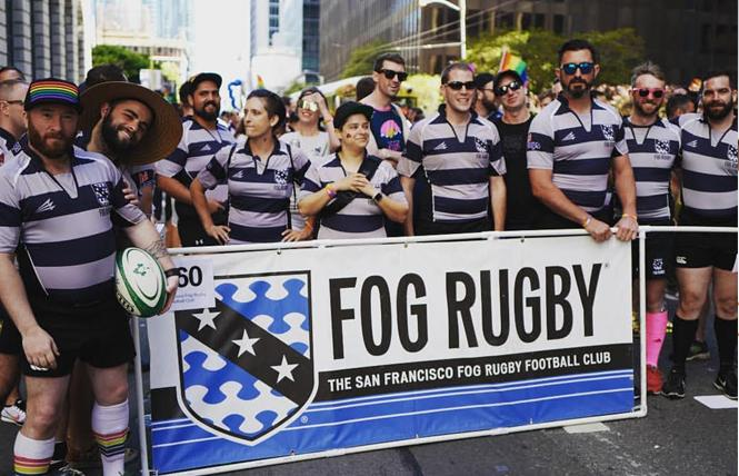 Members of SF Fog Rugby marched in this year's San Francisco Pride parade. Photo: Courtesy SF Fog Rugby