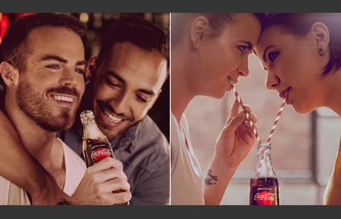 LGBT-friendly ads by the Coca-Cola Company appeared throughout Budapest, Hungary last week. Photo: Courtesy CNN