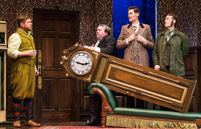 """The Play That Goes Wrong"" cast in the national tour that played the Golden Gate Theatre in a short run last week. Photo: Jeremy Daniel"