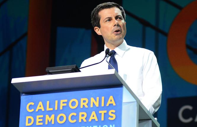Gay presidential candidate Pete Buttigieg has outraised his competitors in heavily LGBT Zip codes around the country. Photo: Rick Gerharter