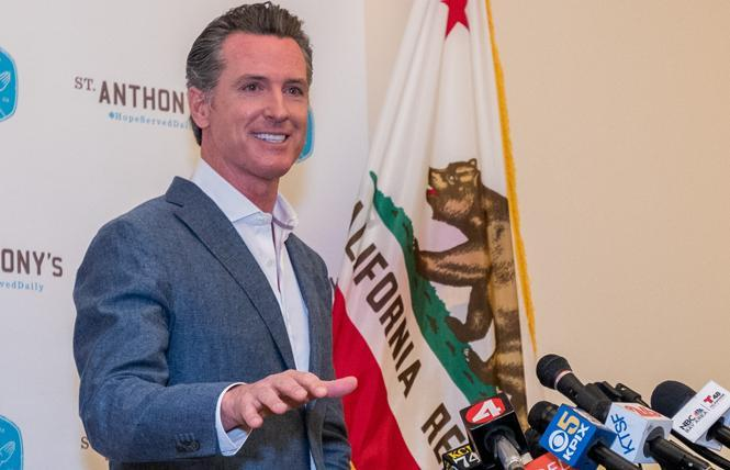 Governor Gavin Newsom, shown in a file photo, signed his first LGBTQ bill Friday. It requires public schools to update the records for transgender and nonbinary students so that they match their legal name and gender identity. Photo: Jane Philomen Cleland