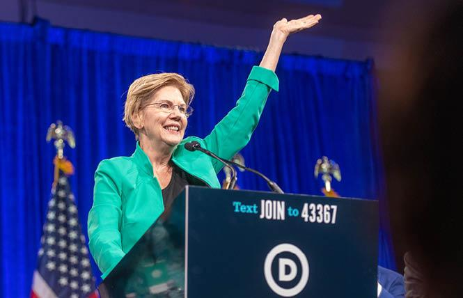 Democratic presidential candidate Elizabeth Warren will participate in two town halls geared toward LGBT issues. Photo: Jane Philomen Cleland
