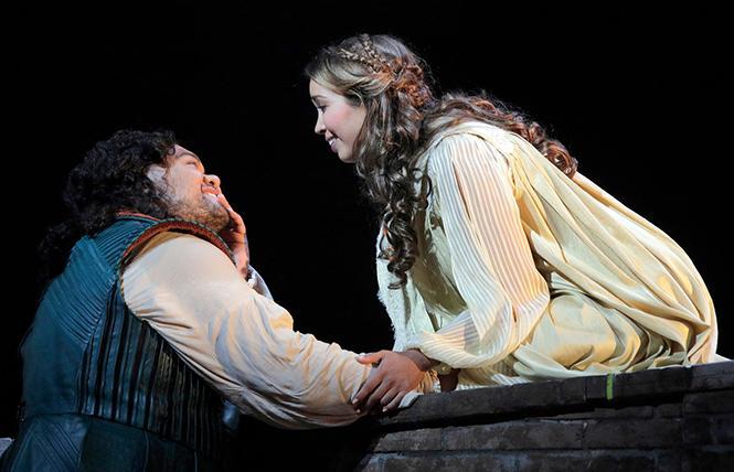 "Pene Pati as Romeo and Nadine Sierra as Juliet in Gounod's ""Romeo and Juliet."" Photo: Cory Weaver/San Francisco Opera"