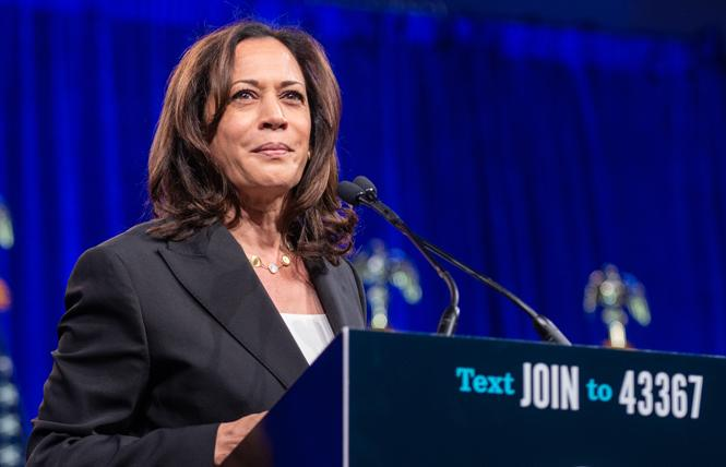 Democratic presidential candidate Senator Kamala Harris. Photo: Jane Philomen Cleland