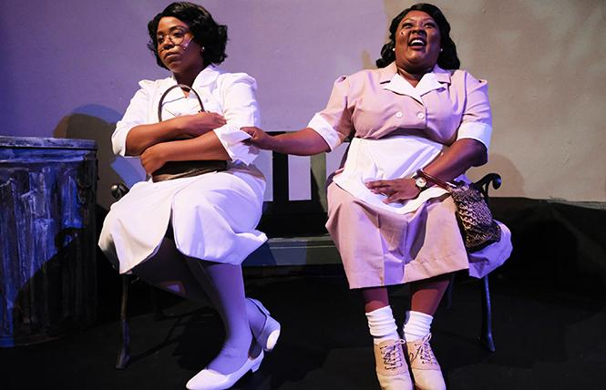 "Jasmyne Brice as Caroline and Phaedra Tillery as Dotty in Ray of Light Theatre's ""Caroline, or Change."" Photo: Nick Otto"