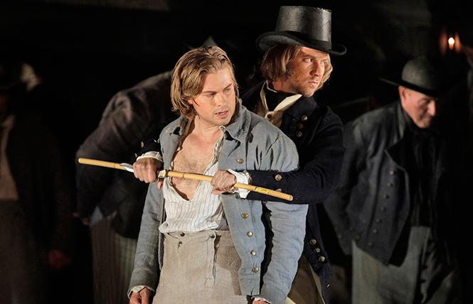 "John Chest as Billy Budd and Edward Nelson as Bosun in Britten's ""Billy Budd."" Photo: Cory Weaver/San Francisco Opera"