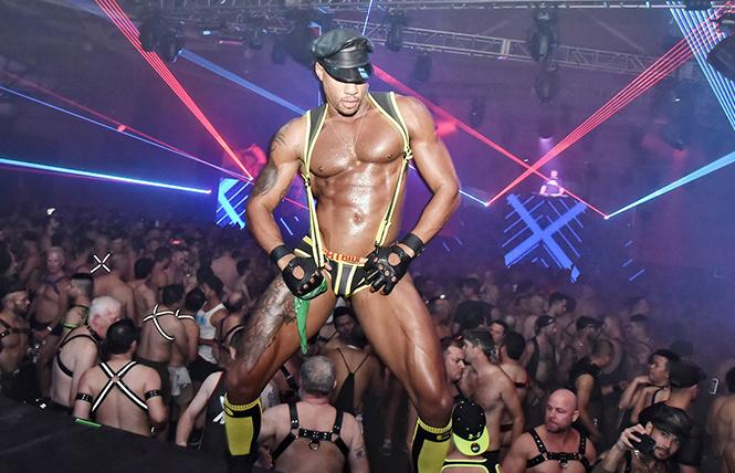 Magnitude (seen here in 2018) is this year replaced by Full Fetish, Masteurdome, and other official Folsom weekend parties. photo: Gooch