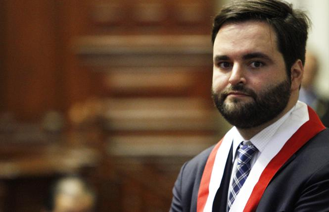 Peru's gay former Congressman Alberto de Belaunde. Photo Credit: Courtesy Enfoque Derecho