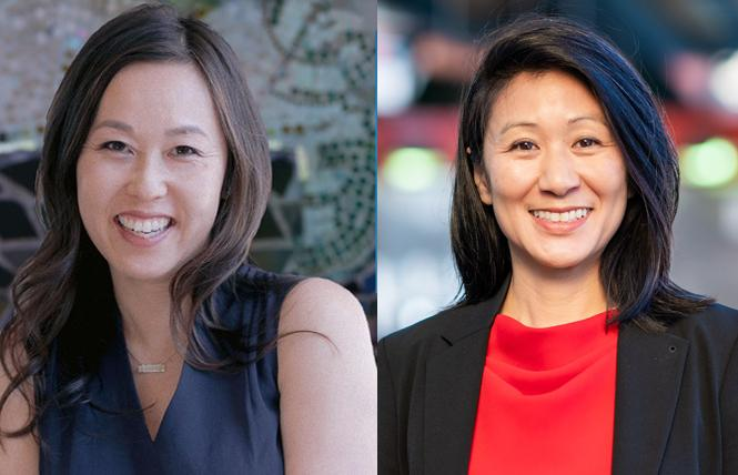 School board member Jenny Lam, left, and community college trustee Ivy Lee are both seeking election to their respective boards.