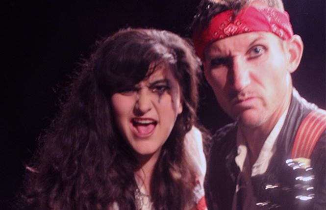 "Maya M. Sherer as Rachel, and James Grady as Andrew Jackson in Custom Made Theatre Co.'s ""Bloody Bloody Andrew Jackson."" Photo: Custom Made Theatre"