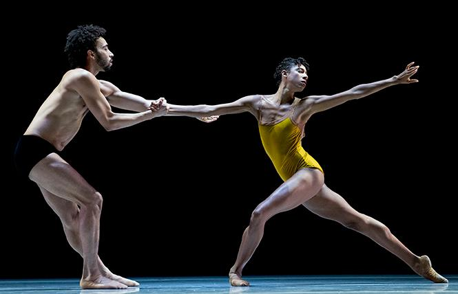"LINES Ballet dancers Michael Montgomery and Adji Cissoko perform in the world premiere of ""Azoth"" at Yerba Buena Center for the Arts. Photo: Manny Crisostomo"