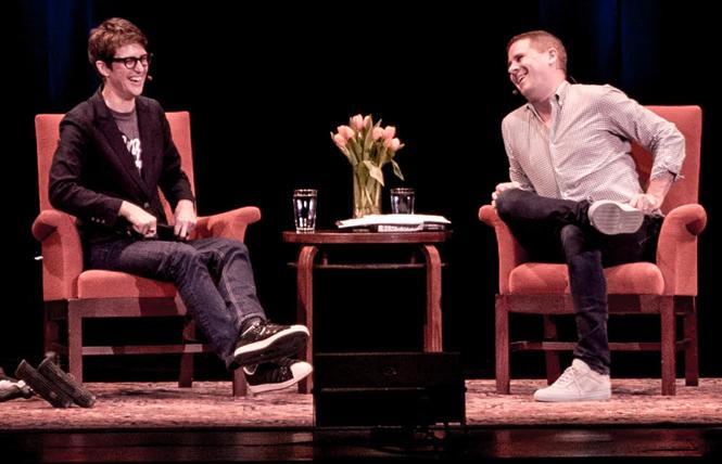 Rachel Maddow talks about her new book with Dan Pfeiffer in San Francisco October 6. Photo: J Barberian