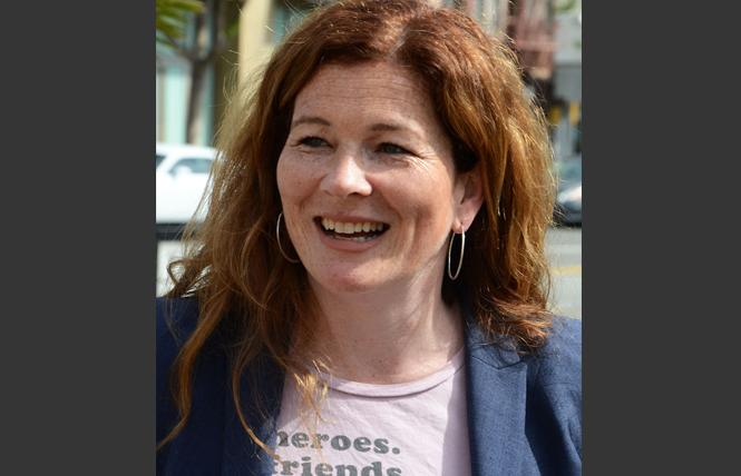 SF district attorney candidate Suzy Loftus campaigned in the Castro. Photo: Rick Gerharter