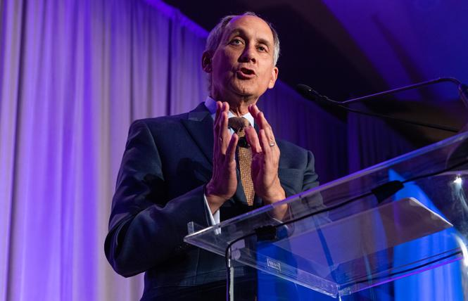 Horizons Foundation President Roger Doughty announced at its recent gala that the organization met its legacy gift goal several months early. Photo: Courtesy Horizons Foundation