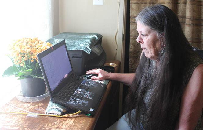 Loreen Willenberg works on her laptop in her home office. Photo: Bob Roehr