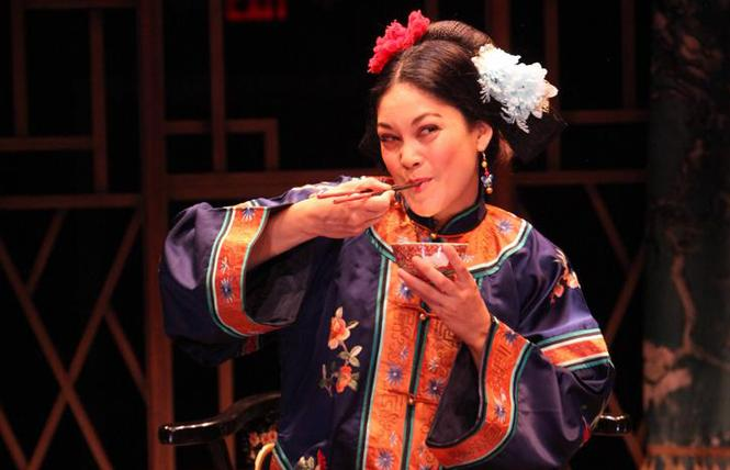 "Rinabeth Apostol as Afong Moy in ""The Chinese Lady"" at the Magic Theatre. Photo: Jennifer Reiley"